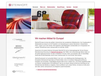 Steinhoff Möbel Website-Relaunch