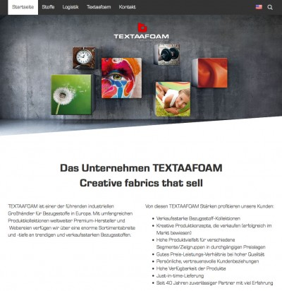 Neue Textaafoam Website online